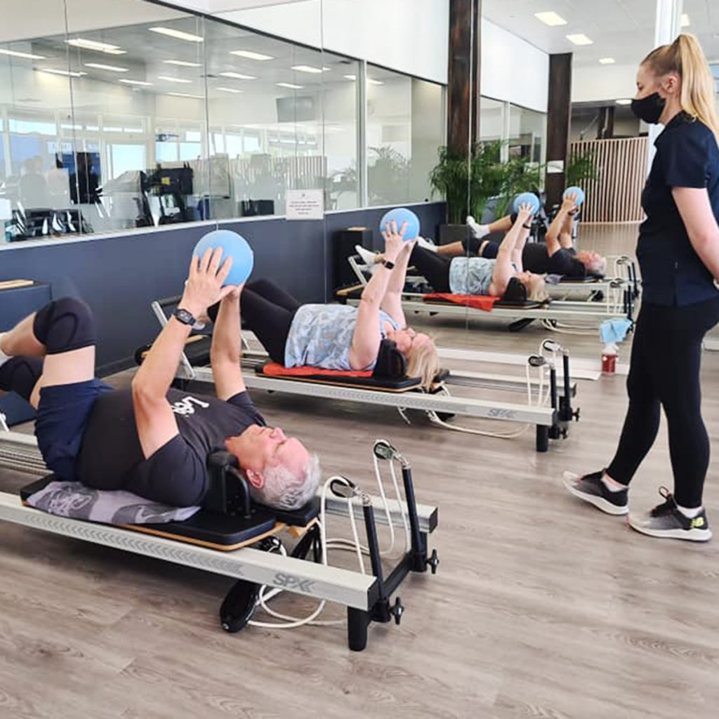 Club Active Exercise Physiologists taking Pilate Reformer class