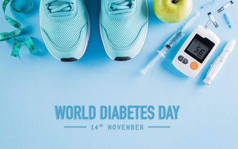 Diabetes and healthy lifestyle including exercise